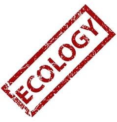 Ecology rubber stamp vector