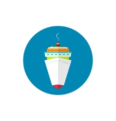 Icon passenger cruise ship vector