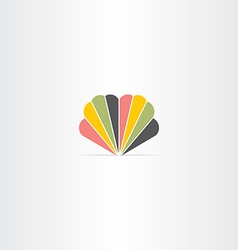 colorful logo abstract business icon symbol design vector image