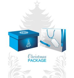 Christmas package vector