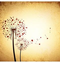 Love Dandelions vector image