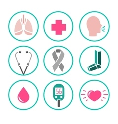 Asthma Icons vector image