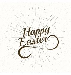 Playful hand lettering series happy easter vector
