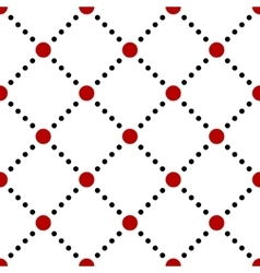 Black white red dotted squares simple seamless vector