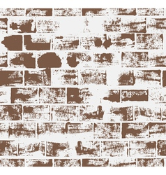 Seamless pattern with brick wall vector