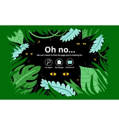 Jungle error page vector