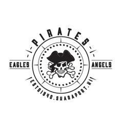 Pirates badge vector