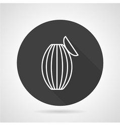 Ambu bag black round icon vector