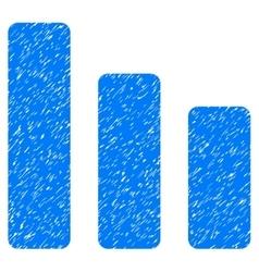 Bar chart decrease grainy texture icon vector
