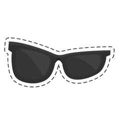 black sunglasses accessorie travel cut line vector image
