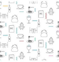 cafeteria service line icon seamless pattern vector image