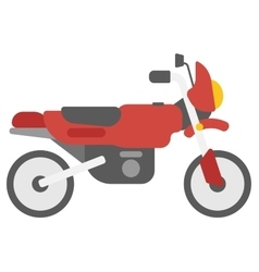 Classic retro motorcycle vector image