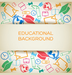 educational light background vector image vector image