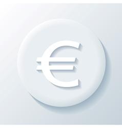 Euro 3D Paper Icon vector image vector image