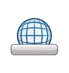 global online connection vector image