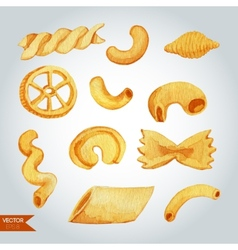 Hand Drawn Pasta Varieties vector image