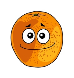 Juicy ripe cartoon orange with a cheeky grin vector