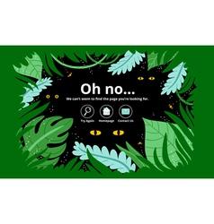 Jungle error page vector image