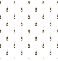 Medicine brown bottle of spray pattern vector