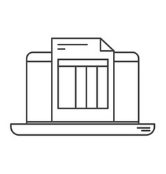Monochrome silhouette of laptop computer and vector