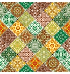 Orange and green abstract patterns vector image vector image