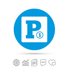 paid parking sign icon car parking symbol vector image vector image