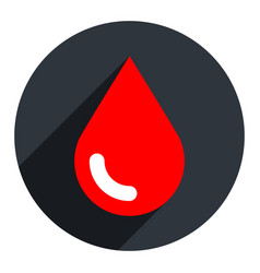 red blood drop icon circle shape vector image