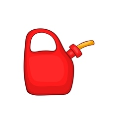 Red oiler icon cartoon style vector