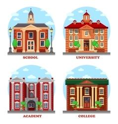 School and university academy college buildings vector