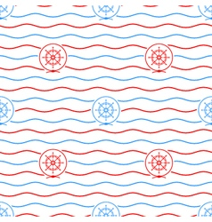 Ships wheel seamless pattern vector