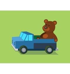 Toys flat style minimalistic cartoon vector image