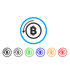 Undo bitcoin payment rounded icon vector