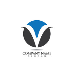 V letters business logo and symbols template vector
