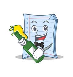 With beer notebook character cartoon design vector