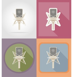 Music items and equipment flat icons 02 vector