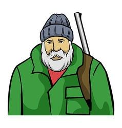 Old hunter vector