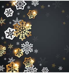 Abstract black christmas background vector
