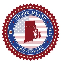 Label sticker cards of state rhode island usa vector
