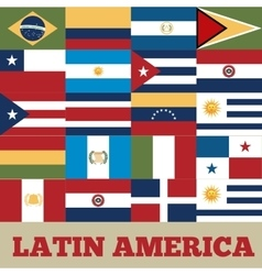 Latin america countries vector
