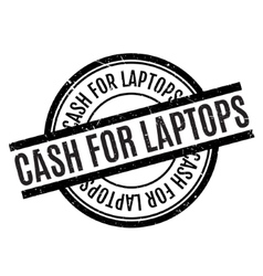Cash for laptops rubber stamp vector