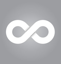 infinity symbol icon representing the concept of vector image