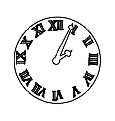 watch with roman numbers vector image