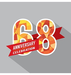 68th years anniversary celebration design vector