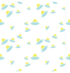 Seamless floral pattern on the white backdrop vector