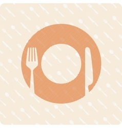 Pattern plates and cutlery vector