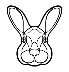 Head of a rabbit hare coloring vector image