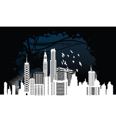 city with grunge vector image