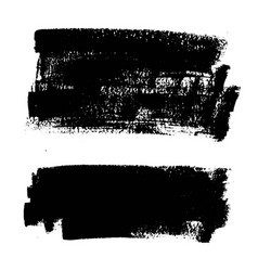 black paint ink brush stroke background box vector image vector image