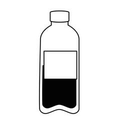 Bottle water plastic icon vector