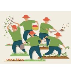 Busy gardener vector image vector image